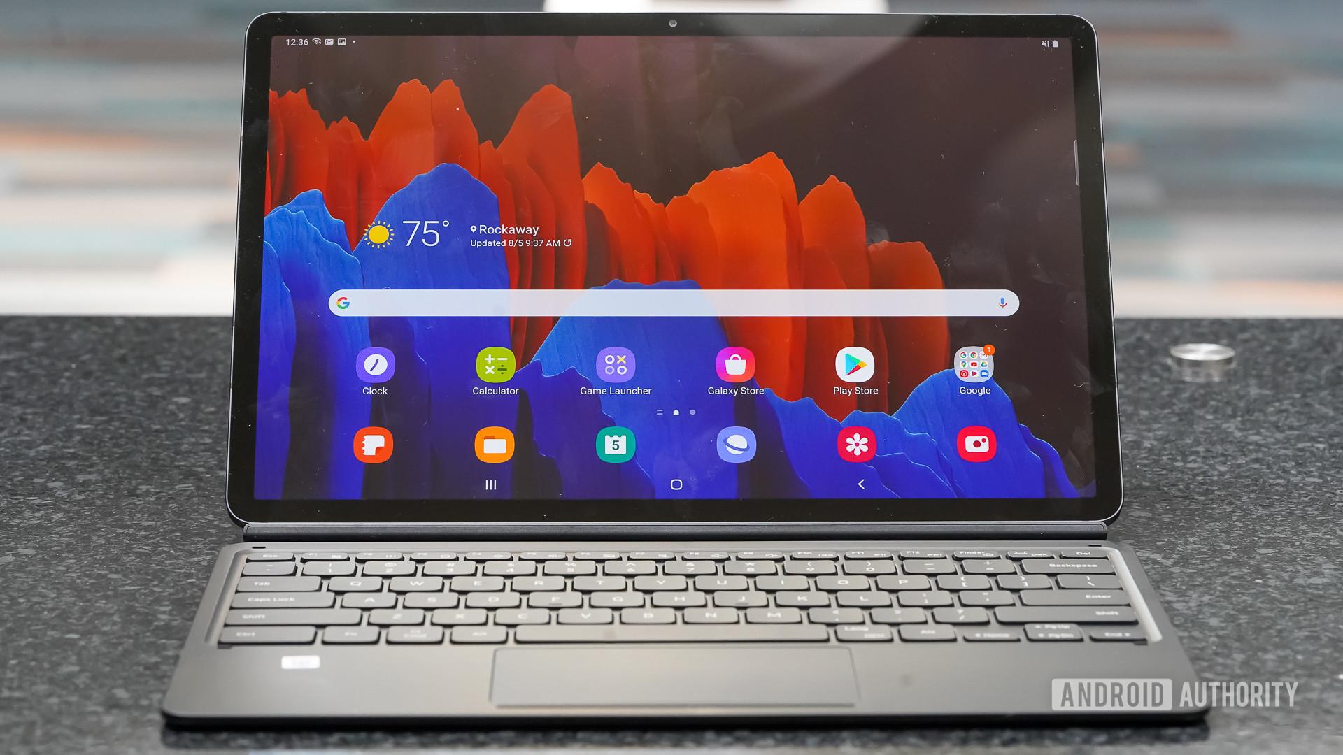 Samsung Galaxy Tab S7 Plus front profile