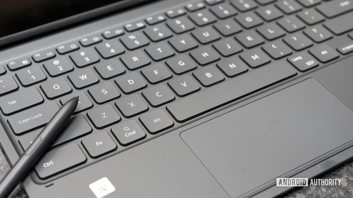 Samsung Galaxy Tab S7 Plus keyboard with S Pen