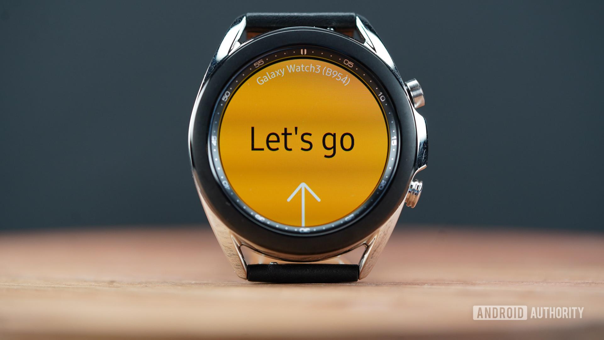 Samsung Galaxy Watch 3 display