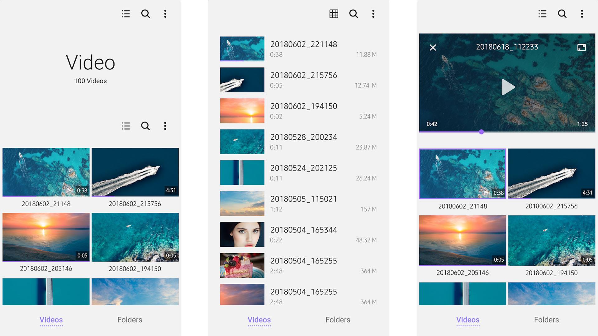 Samsung Video Library screenshot 2021