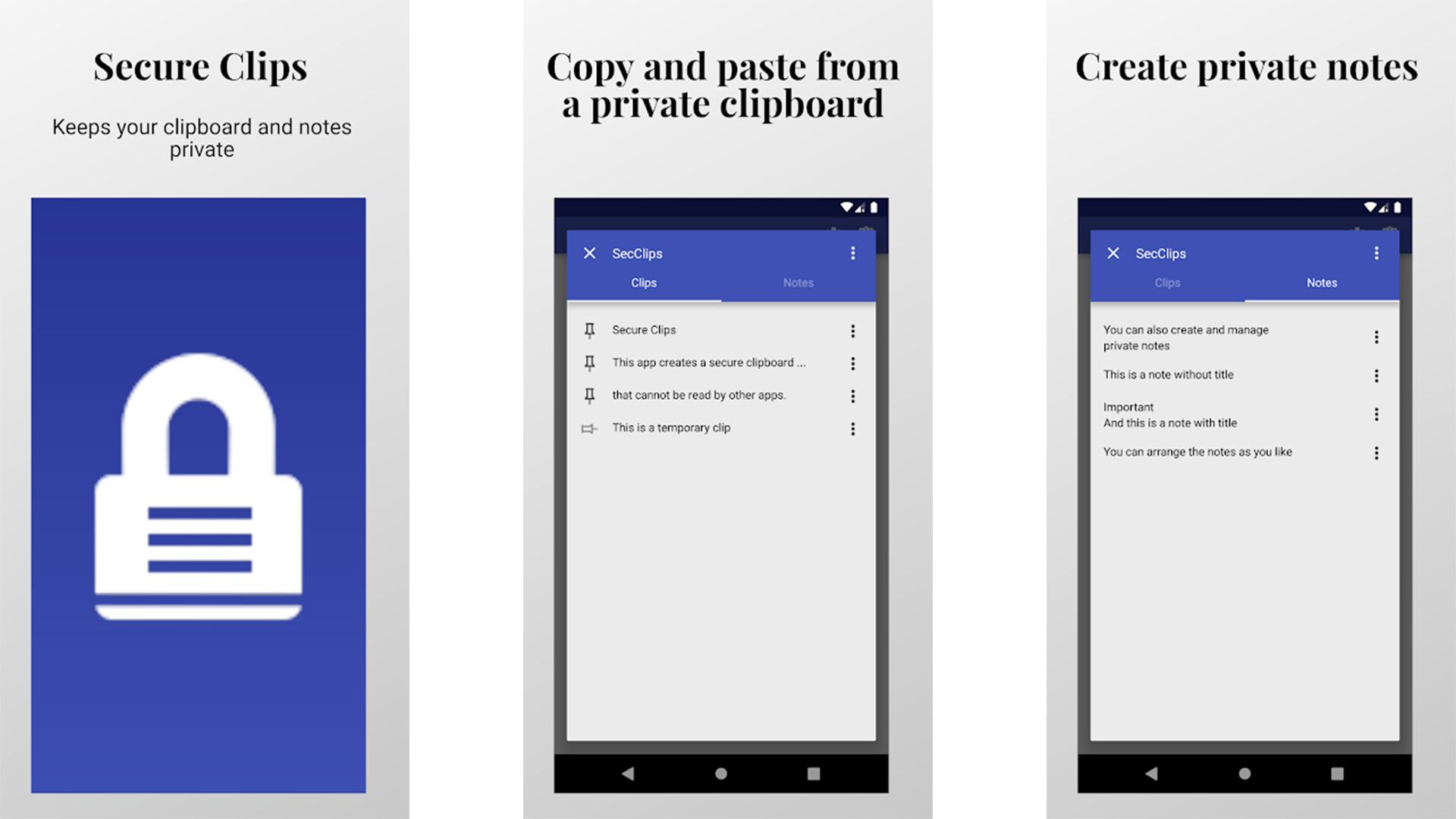 Secure Clips screenshot