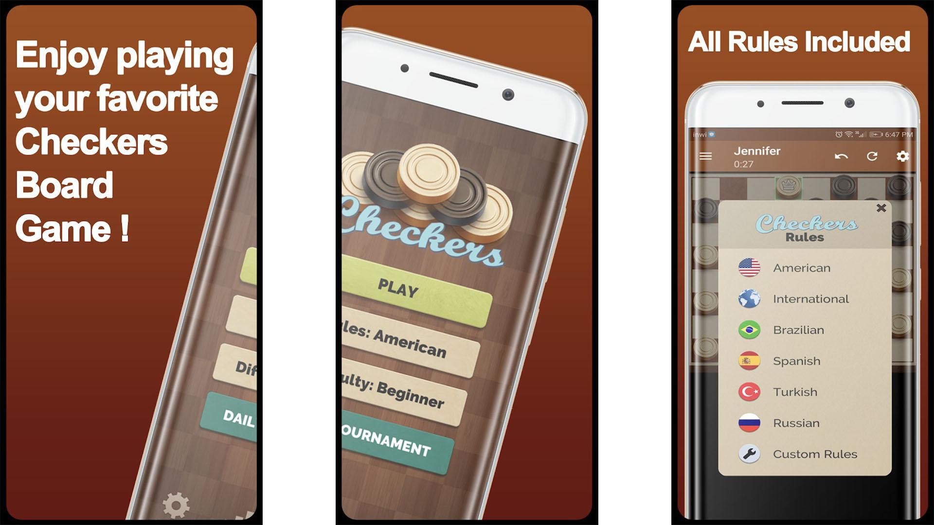 WorldClass Checkers screenshot
