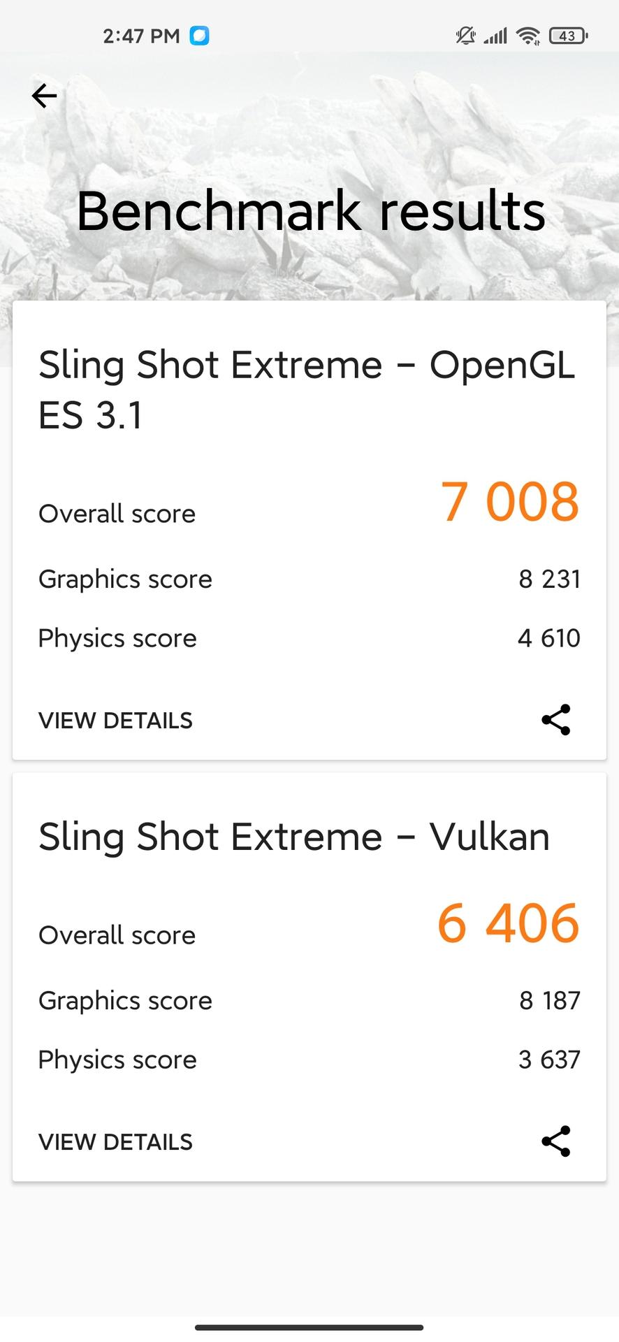 Xiaomi Mi 10 Ultra 3dmark results