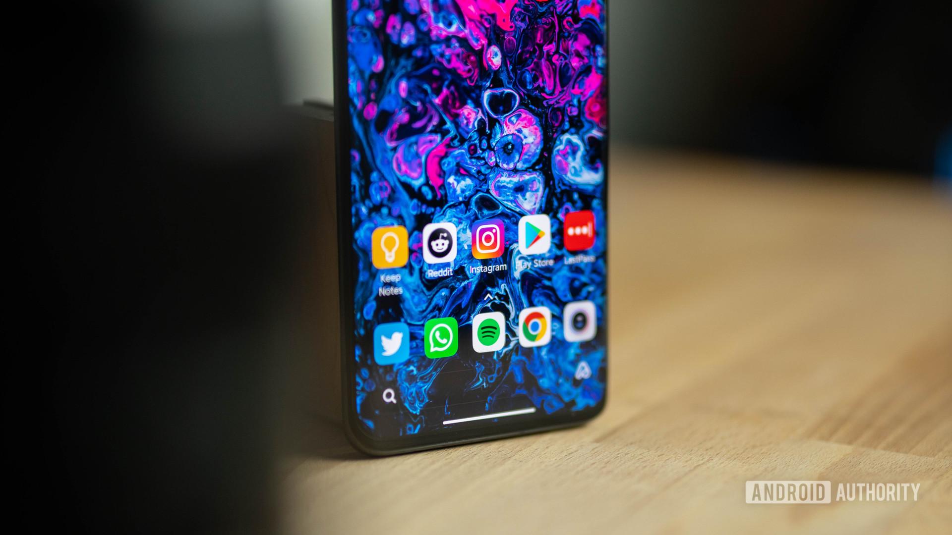 Xiaomi Mi 10 Ultra home screen hidden
