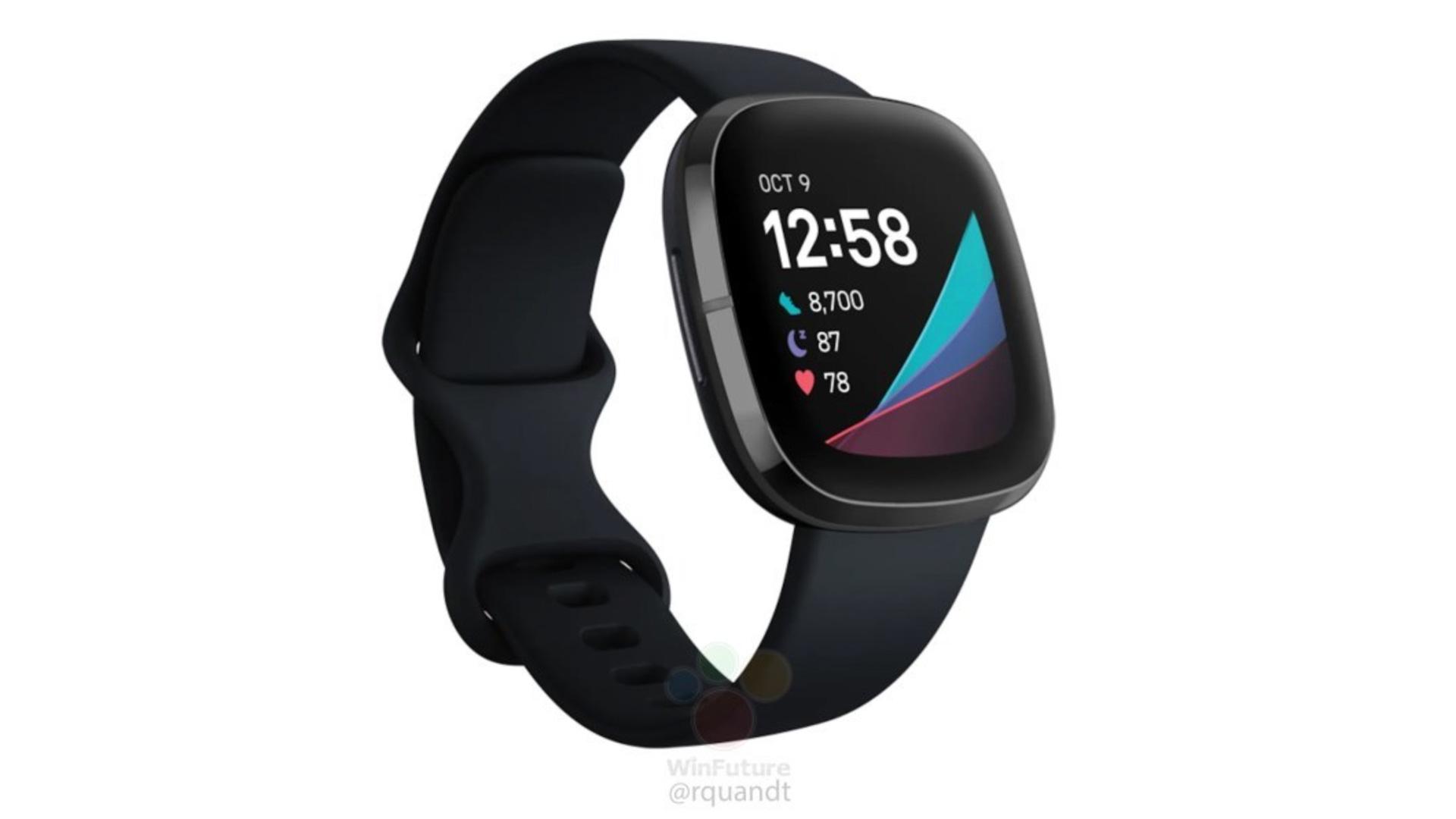 fitbit sense smartwatch leak