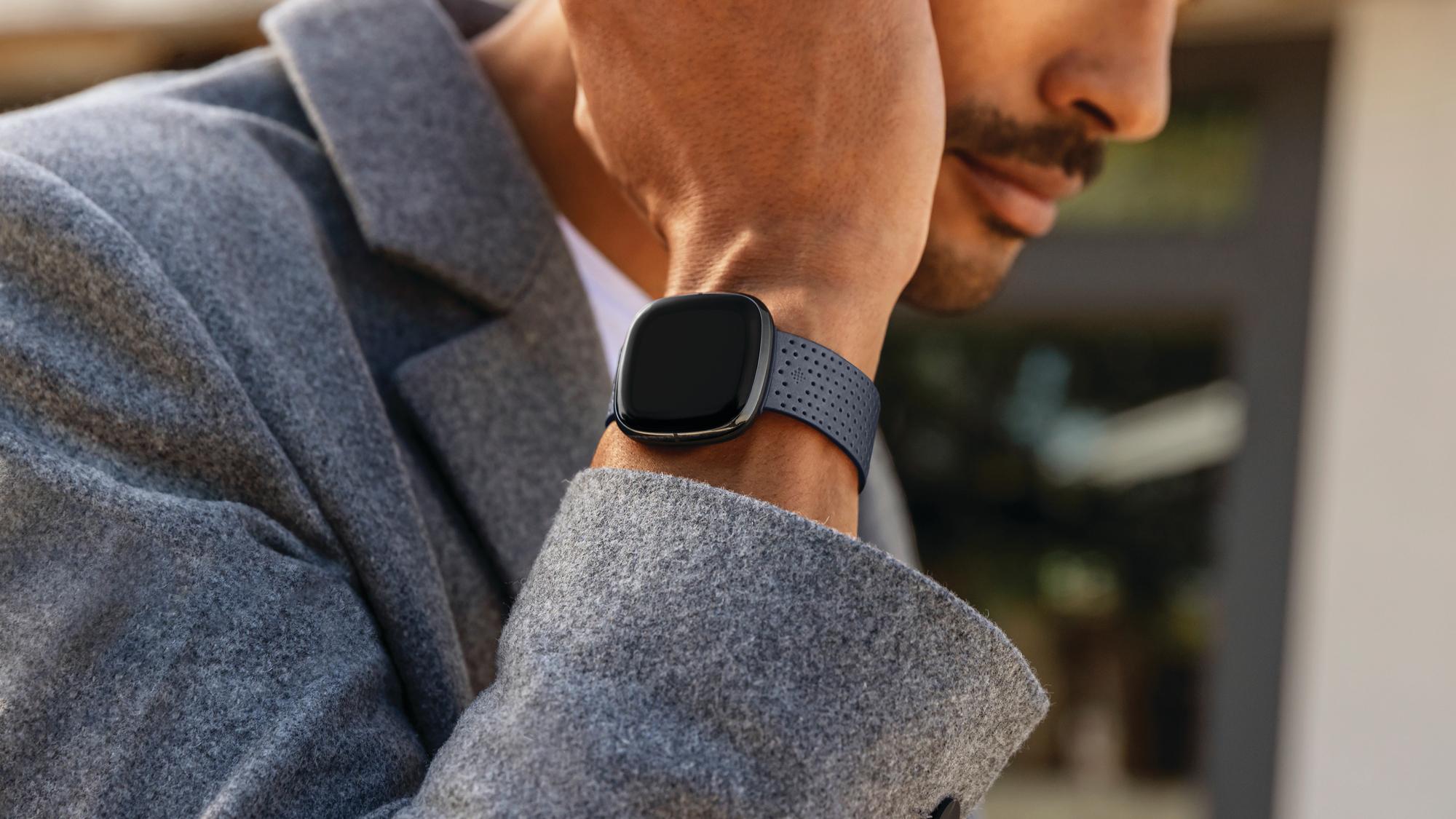 fitbit sense smartwatch lifestyle on wrist
