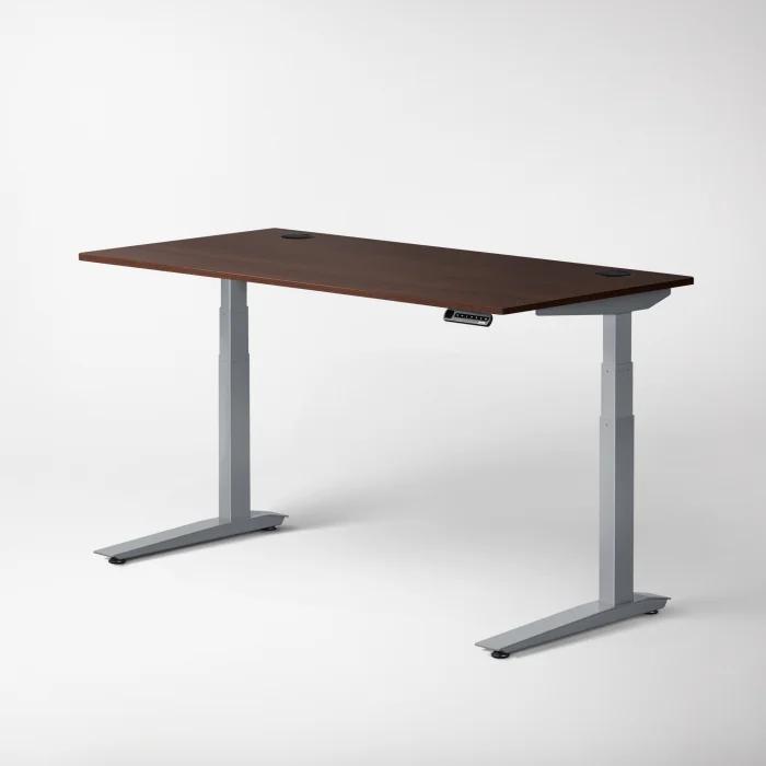 fully jarvis laminate standing desk walnut silver frame c v1 2