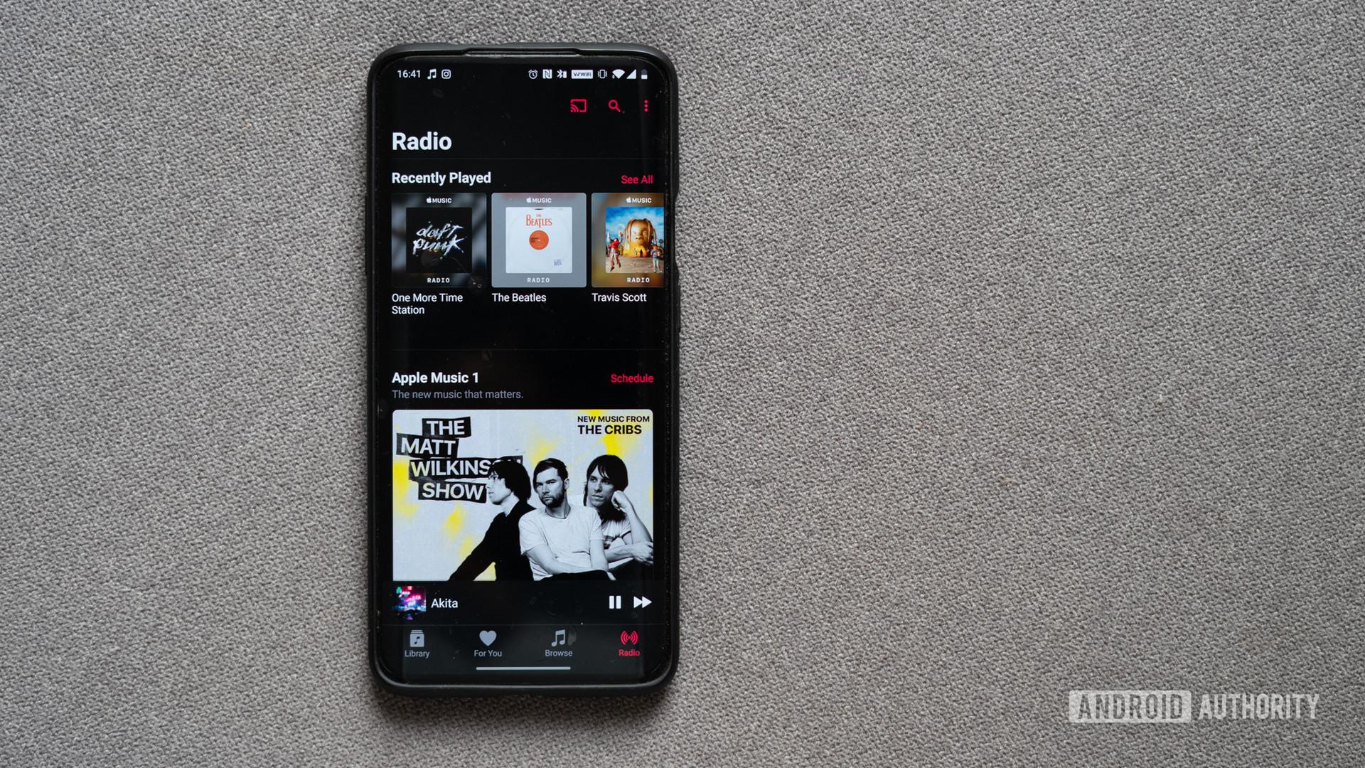 Apple Music home screen