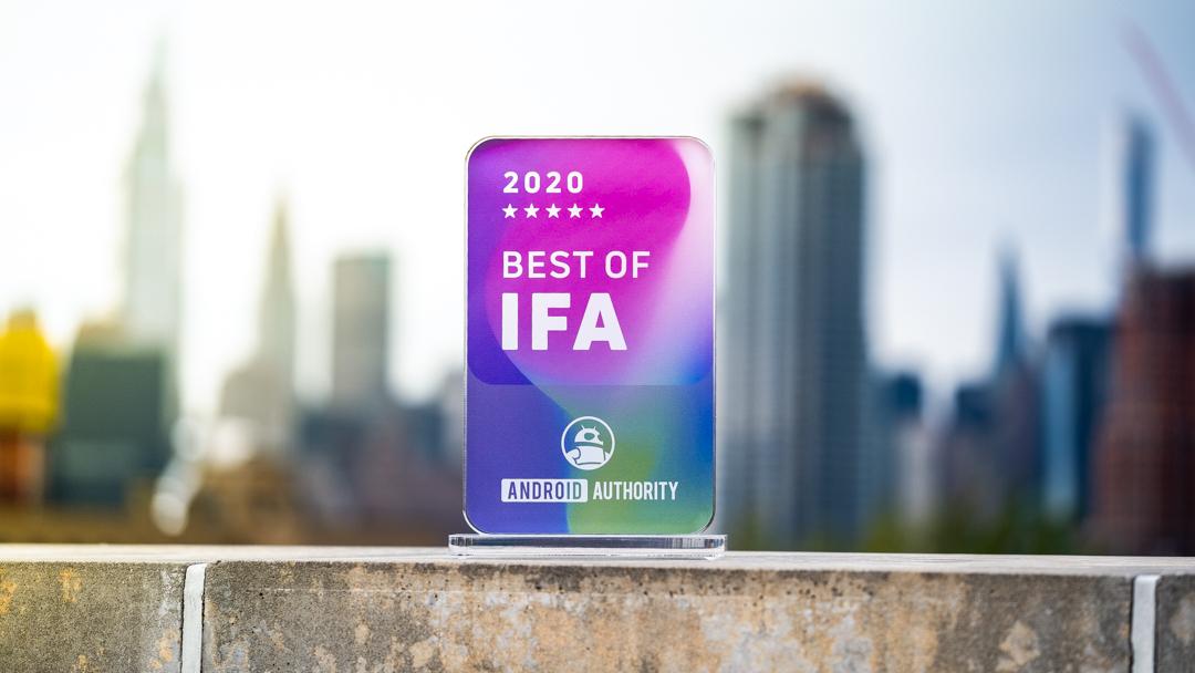 Best of IFA 2020 award outside 1