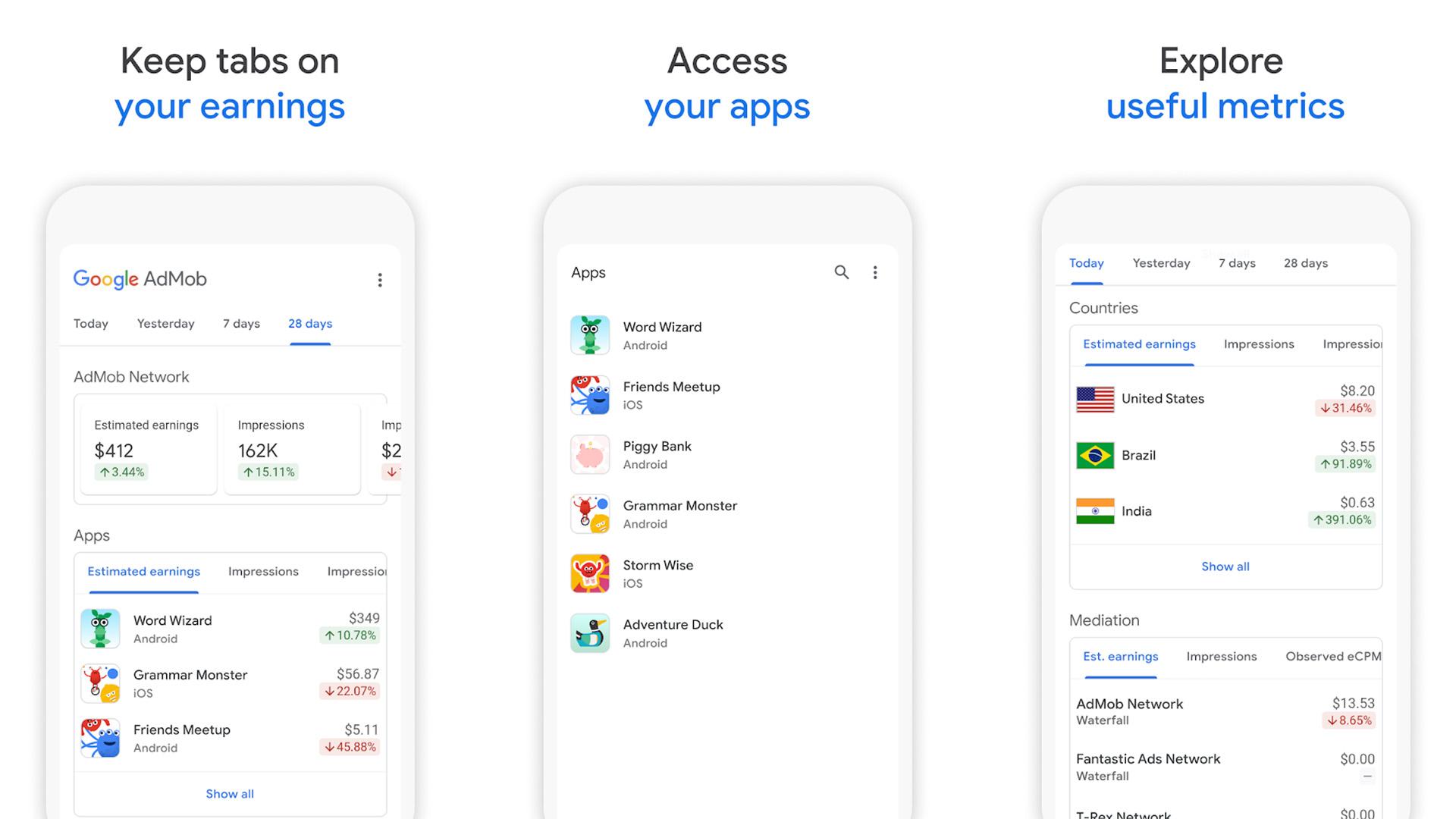 Google Admob screenshot