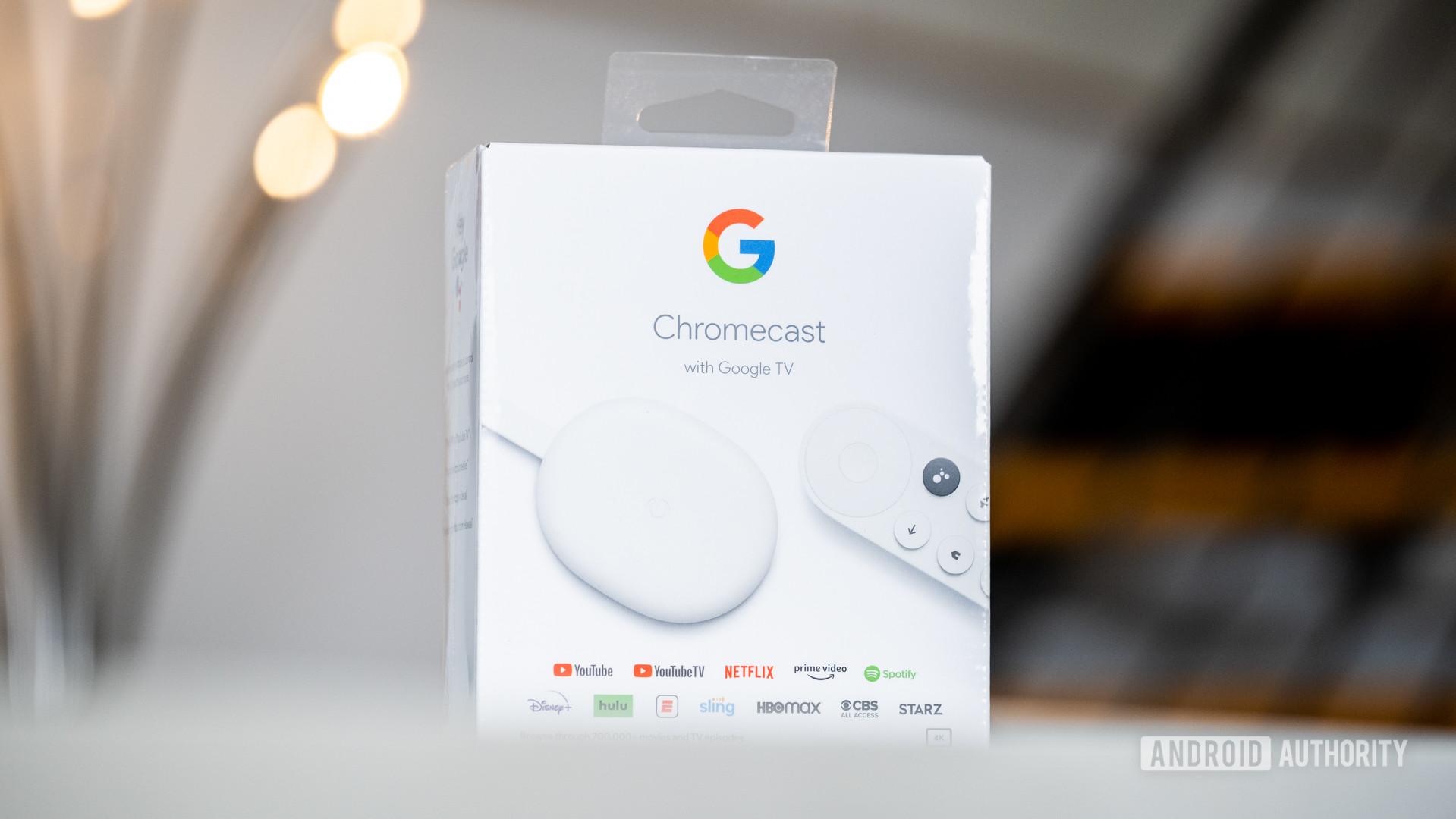 Google Chromecast with Google TV box