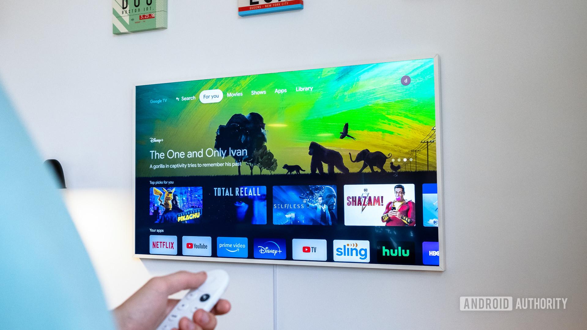 Google Chromecast with Google TV for you tab
