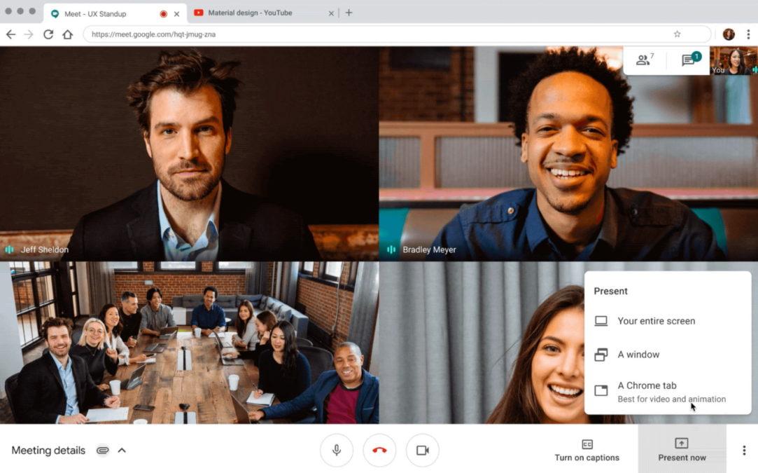 Google Meet present