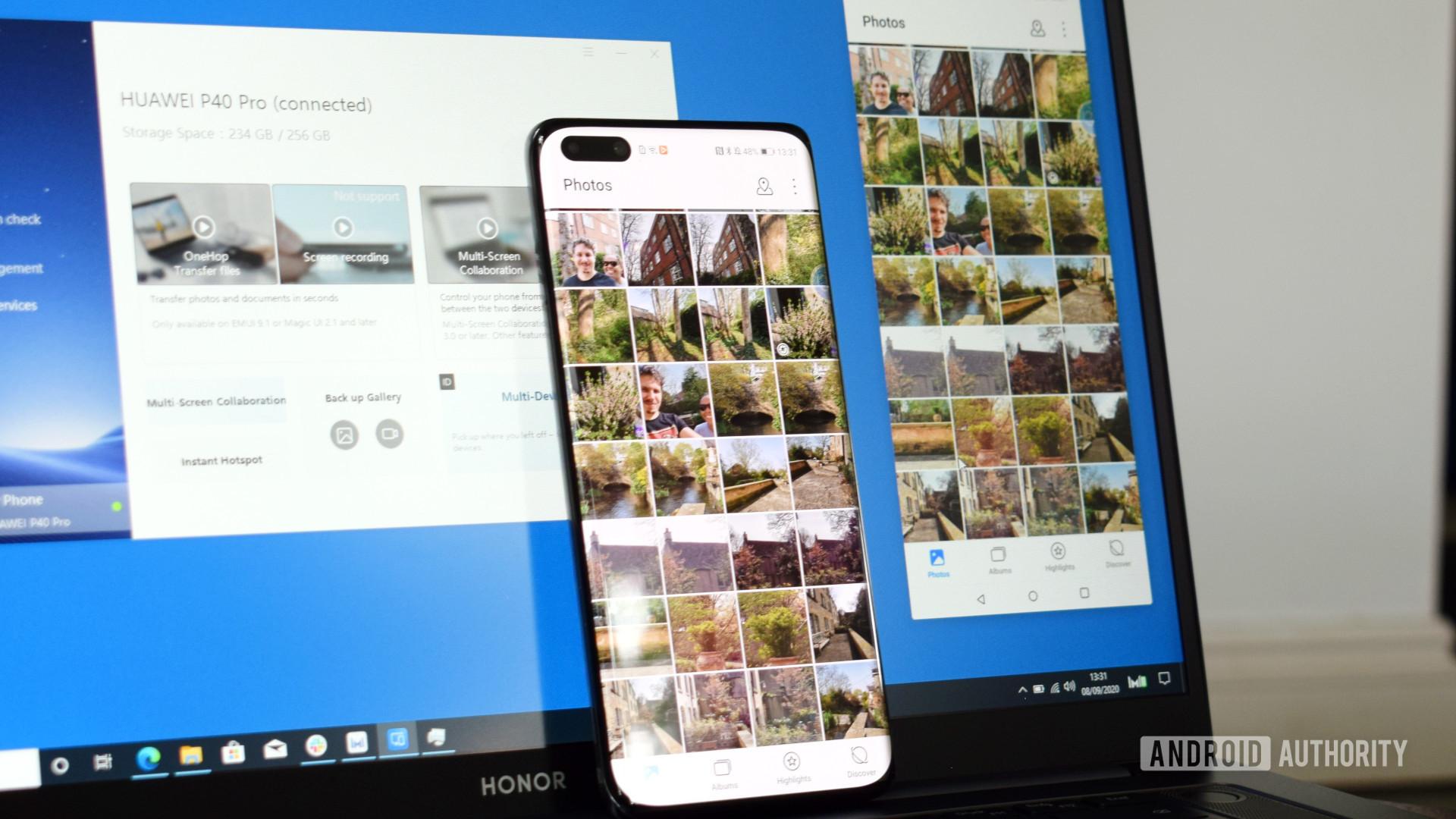 Honor MagicBook Pro Multi screen Collaboration
