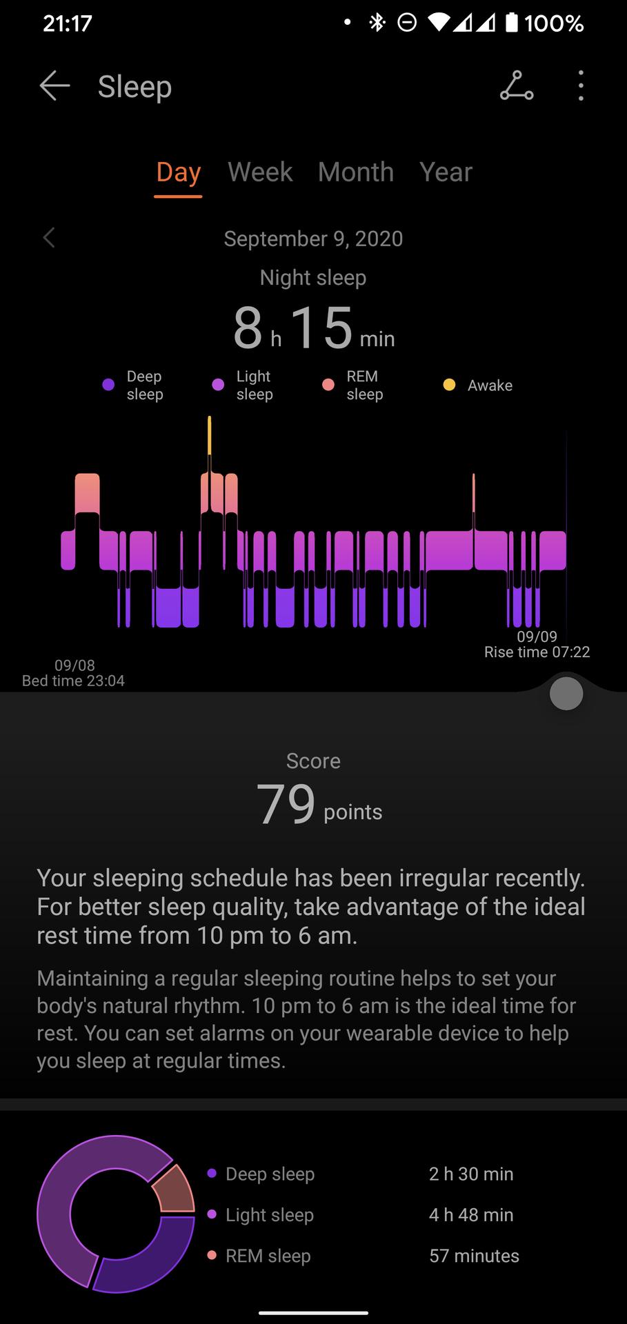 Huawei Health Huawei Watch GT 2 Pro sleep tracking