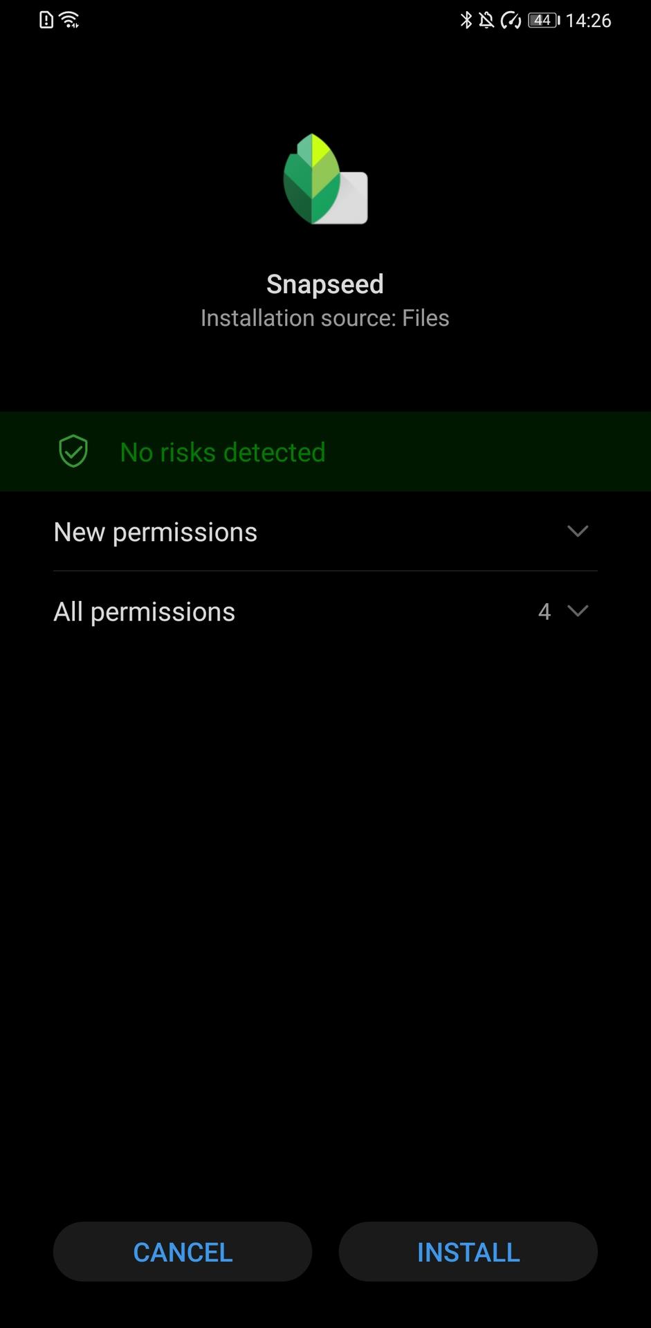 Huawei Mate 30 Pro app install