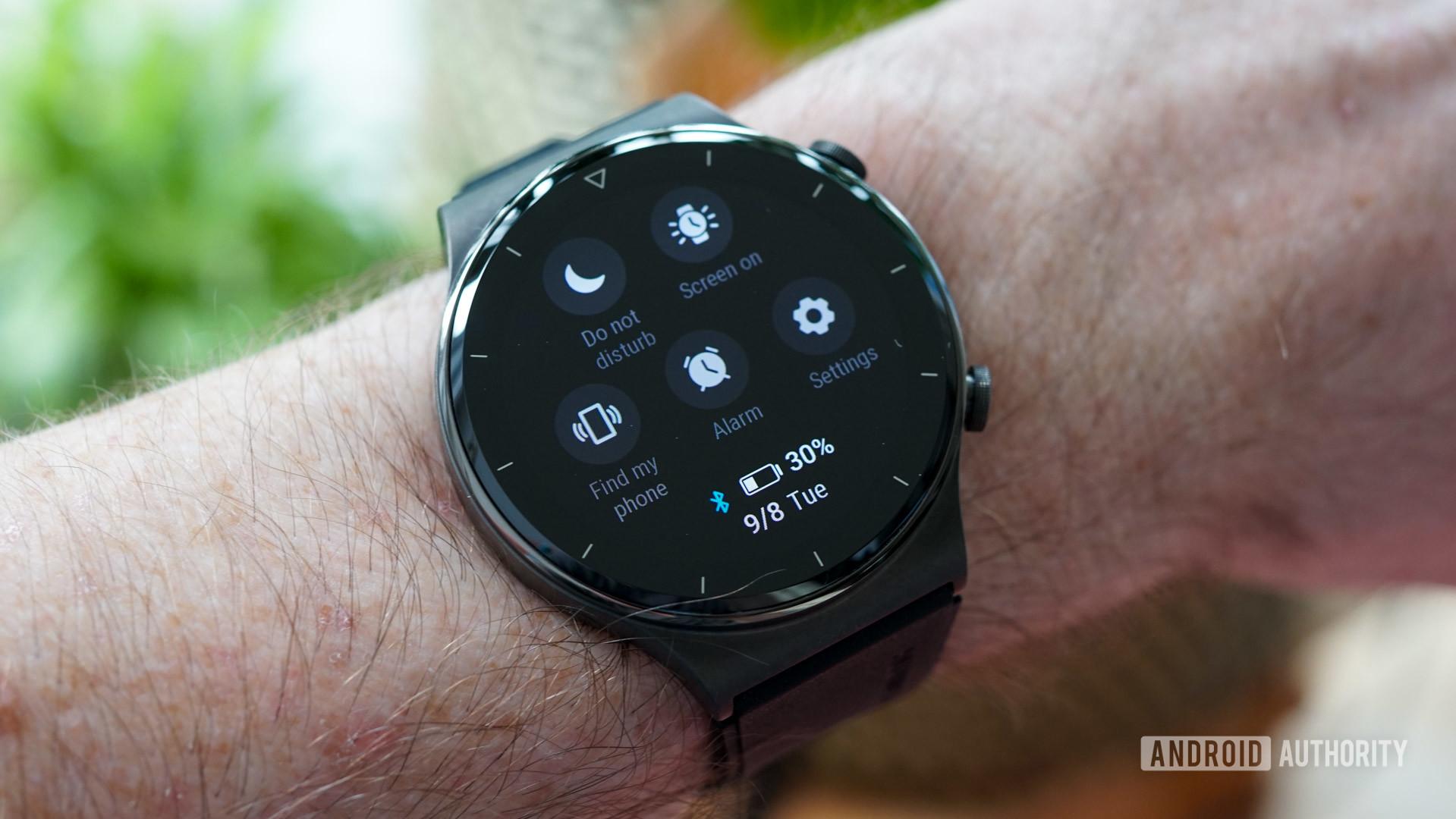 Huawei Watch GT 2 Pro quick settings