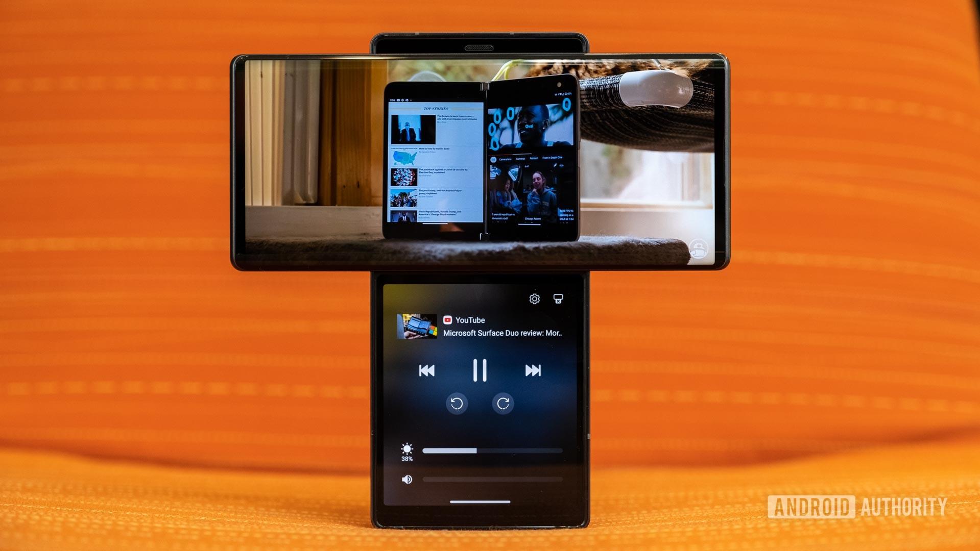 LG Wing YouTube Dual Screen interface 2