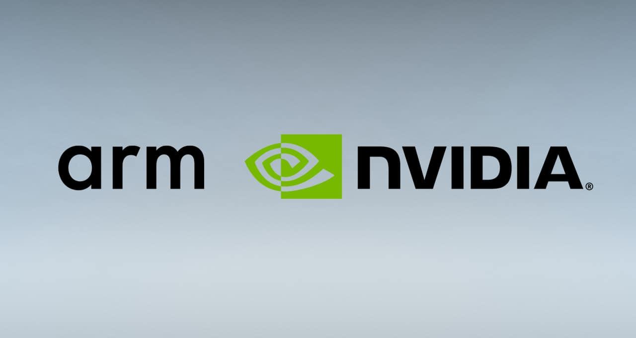 NVIDIA and Arm company logos