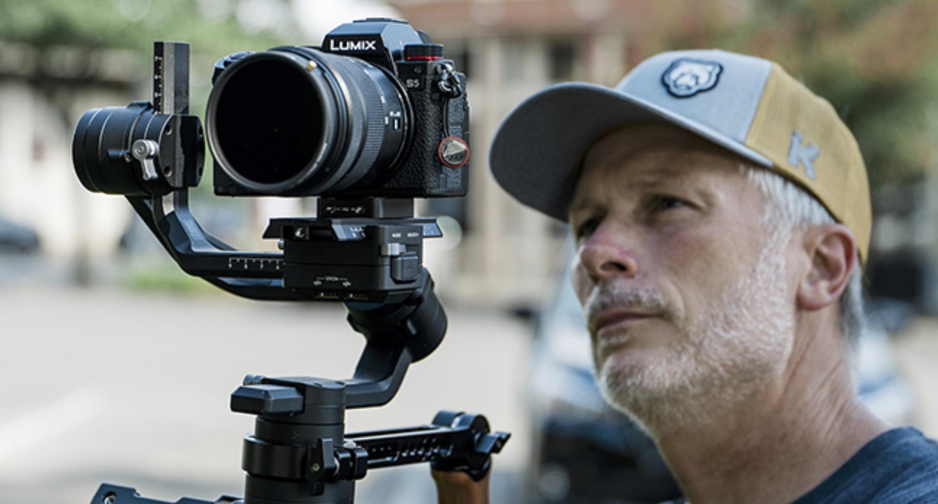 Man shooting video
