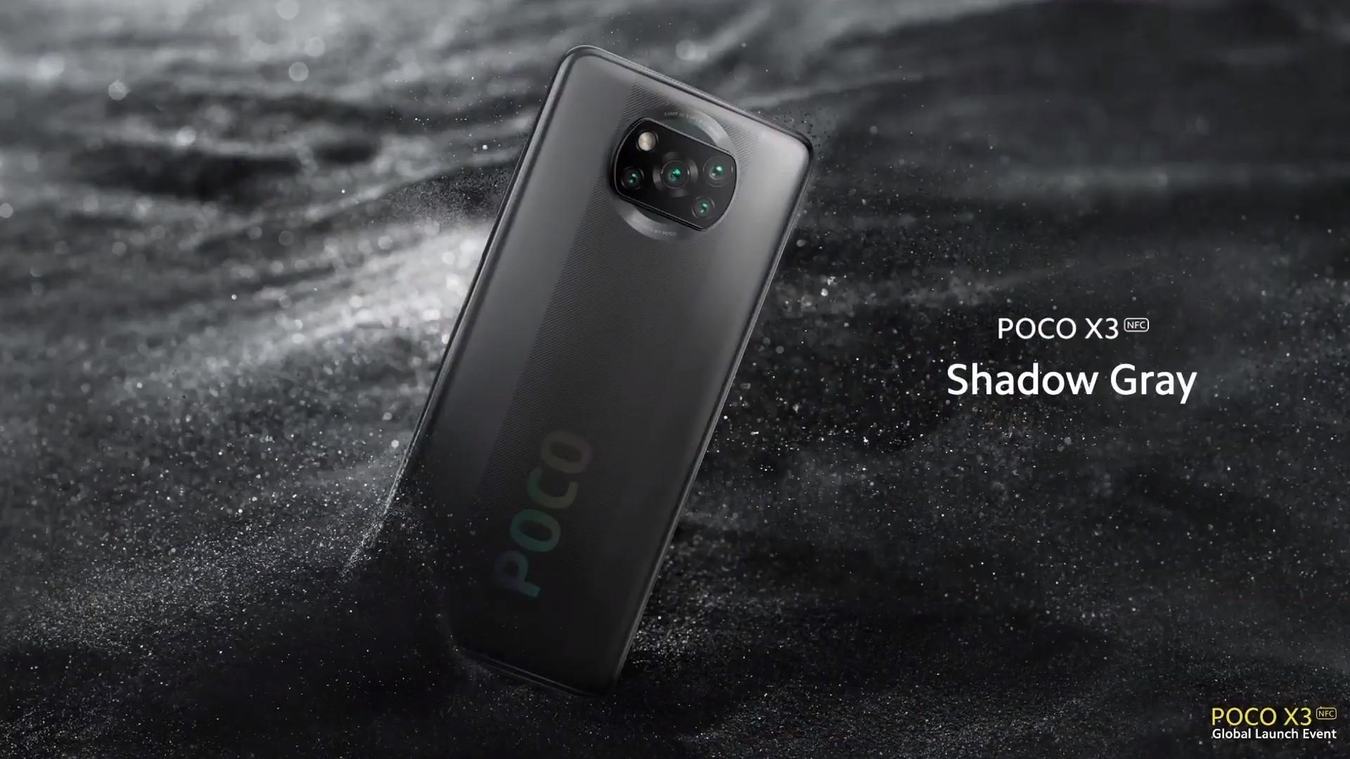 Poco X3 shadow grey