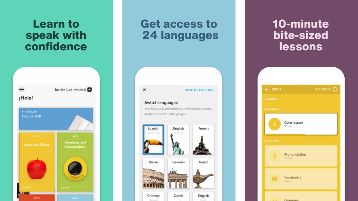 Rosetta Stone screenshot 2021