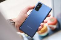 Samsung Galaxy S20 FE in hand 2