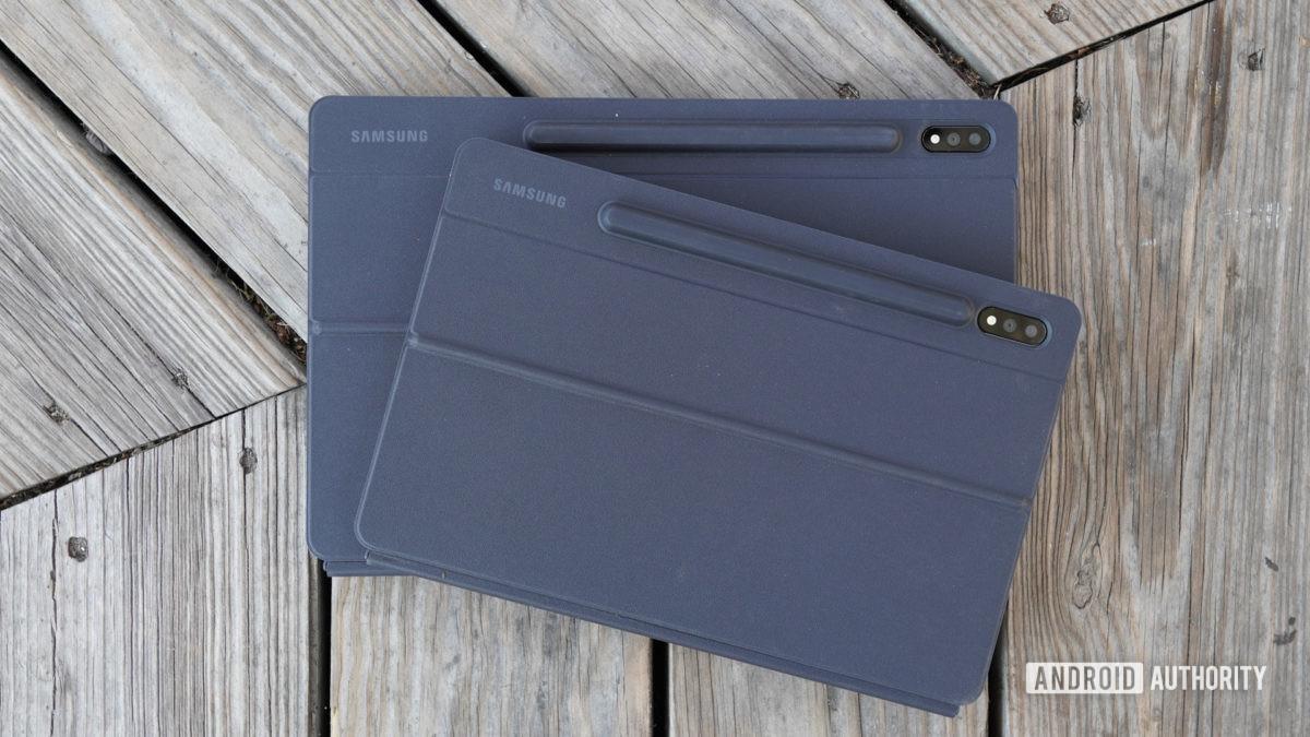 Samsung Galaxy Tab S7 in their cases