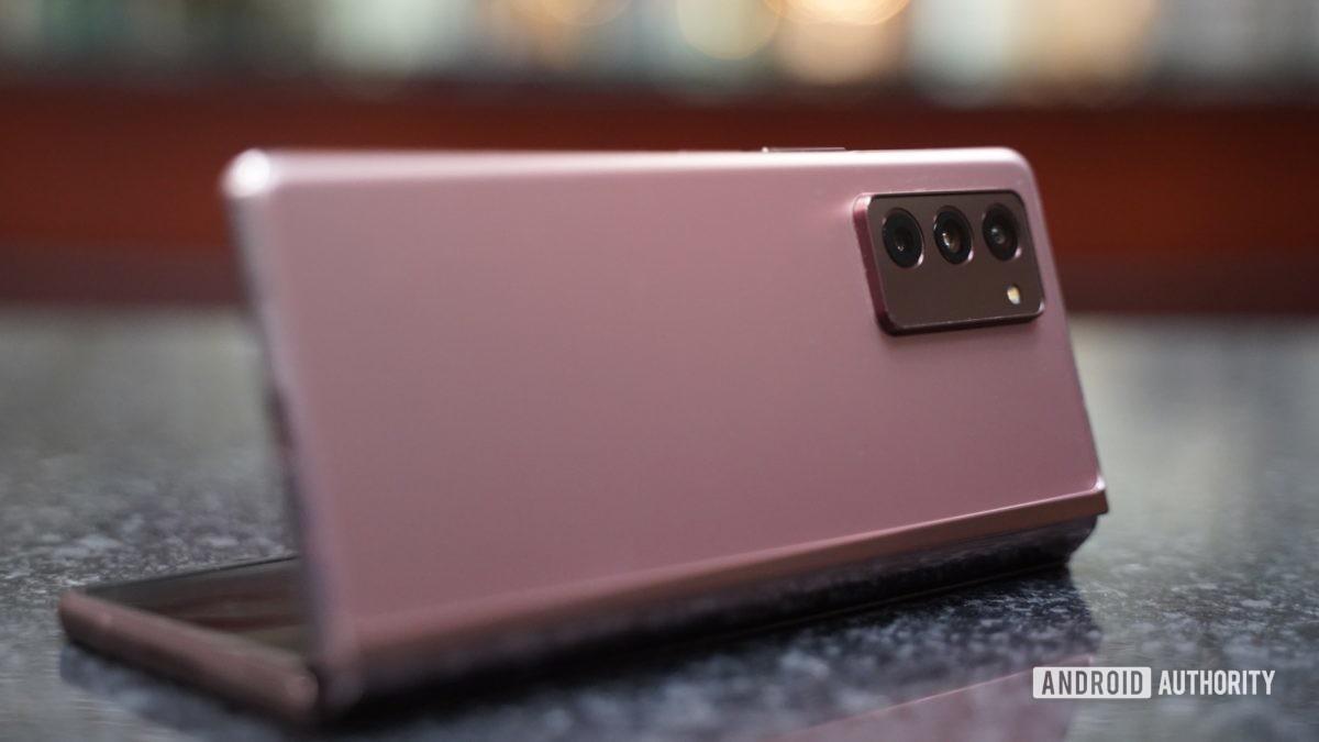 Samsung Galaxy Z Fold 2 laptop mode 2