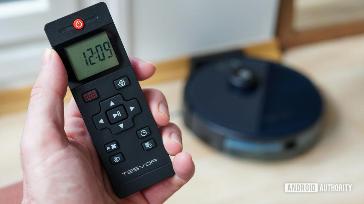 Tesvor S6 robot vacuum remote control and robovac
