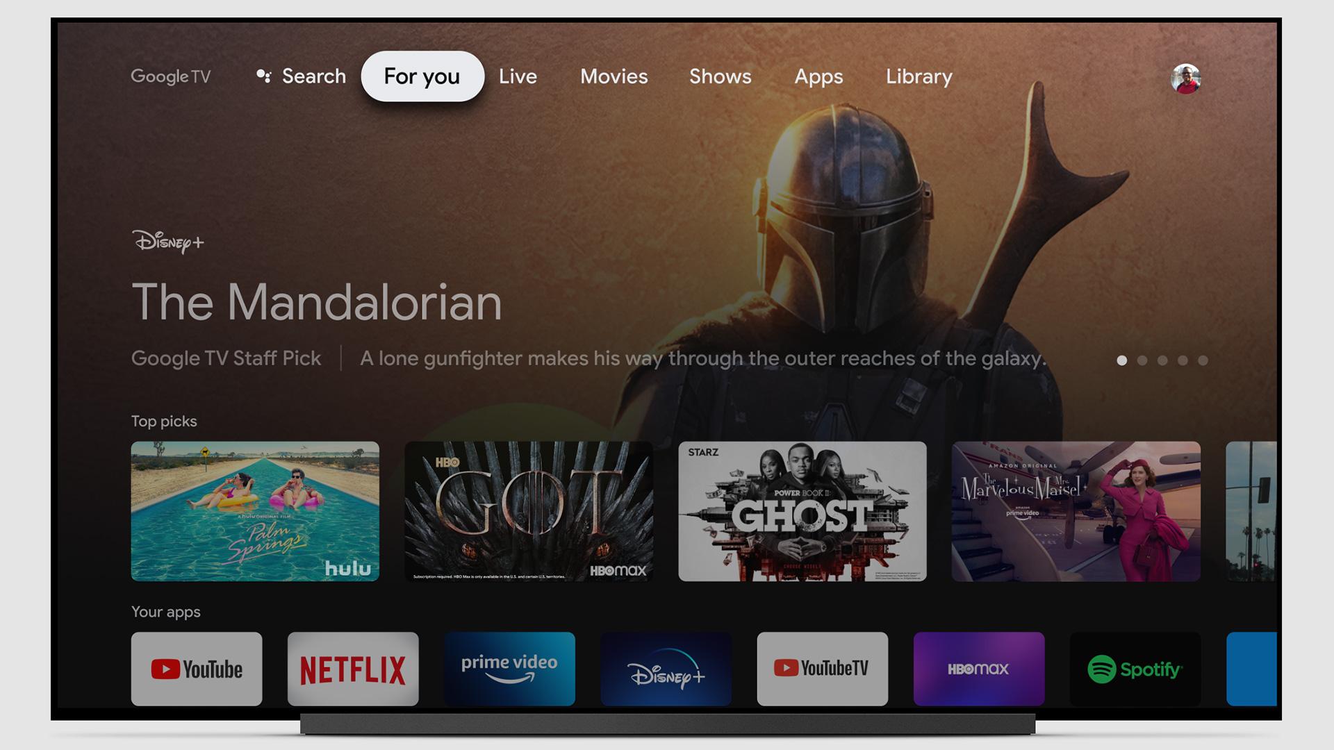 google tv interface on android chromecast