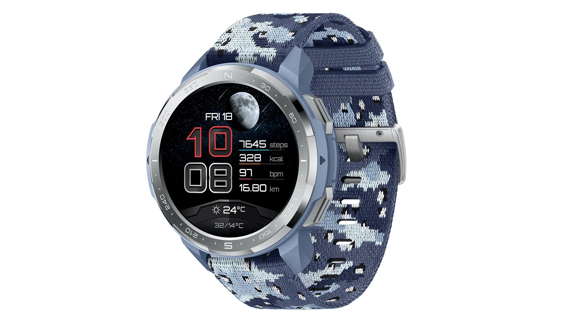 honor watch gs pro camo blue