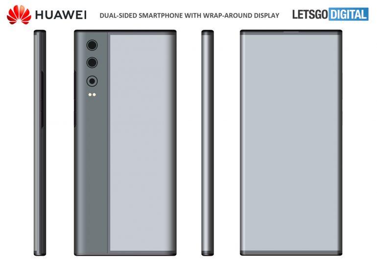 huawei smartphone wrap around patent