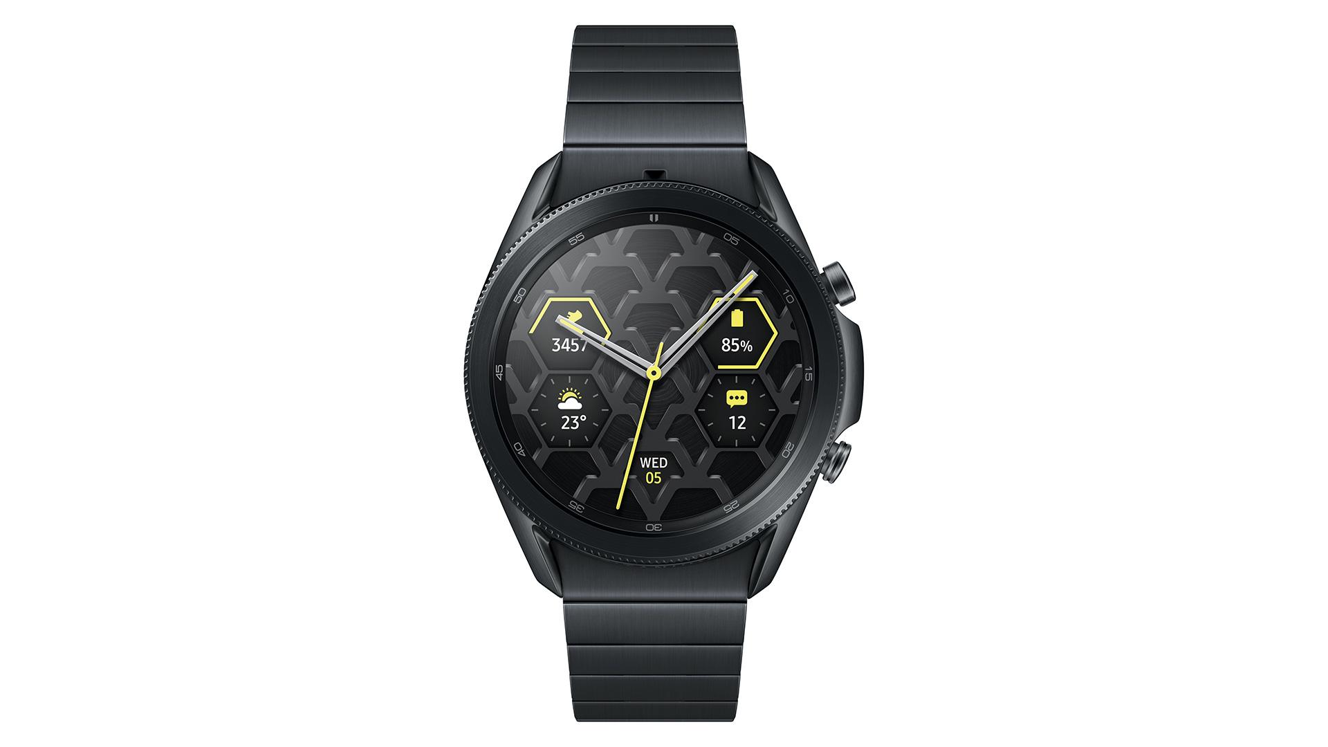 samsung galaxy watch 3 titanium front