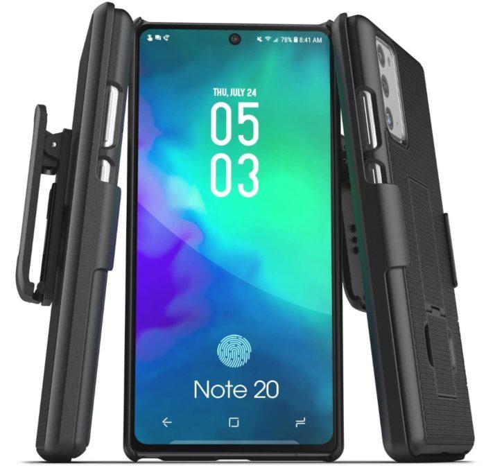 Galaxy Note 20 encased duraclip