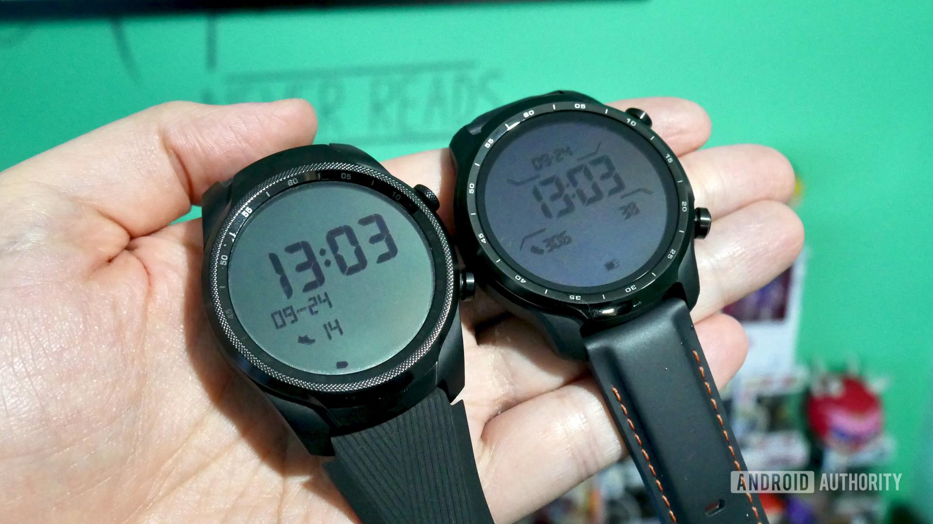 ticwatch pro 3 gps vs ticwatch pro lte 2020 front