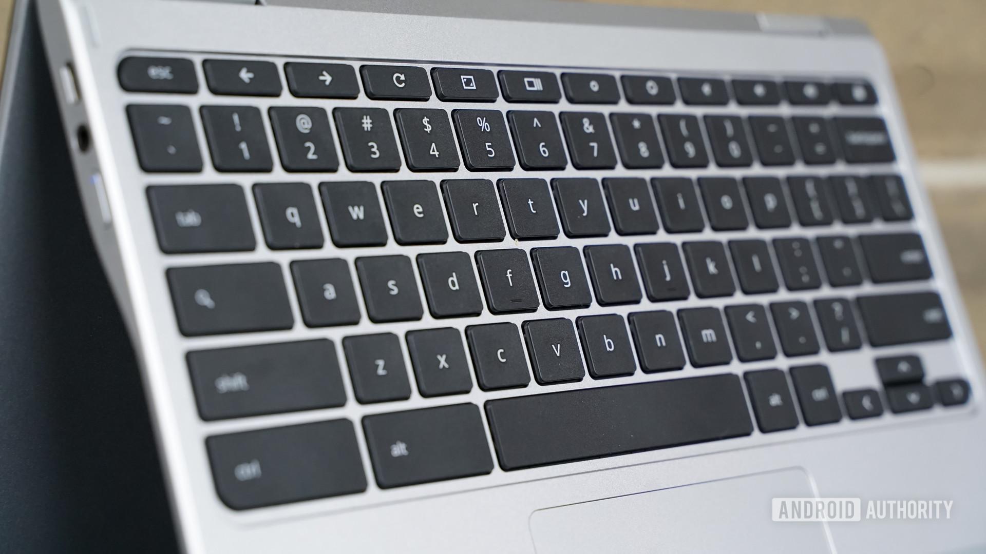 Acer Chromebook Spin 311 keyboard closeup