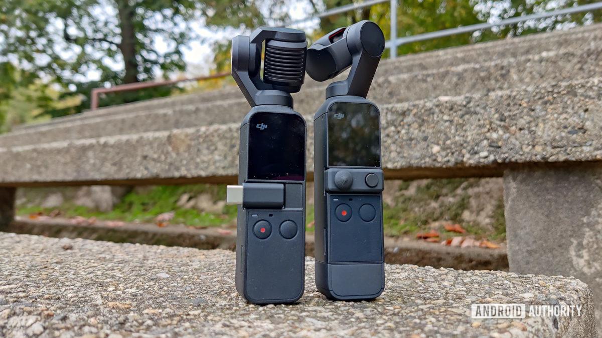 DJI Pocket 2 Review next to DJI Osmo Pocket
