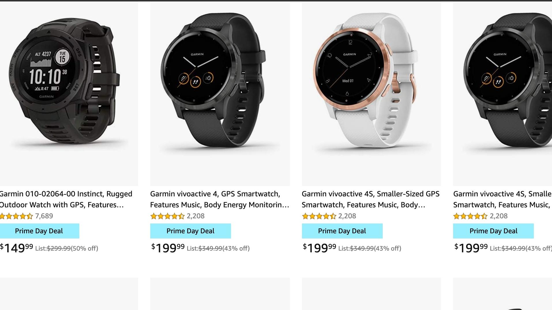 Garmin Amazon Prime Day Deals