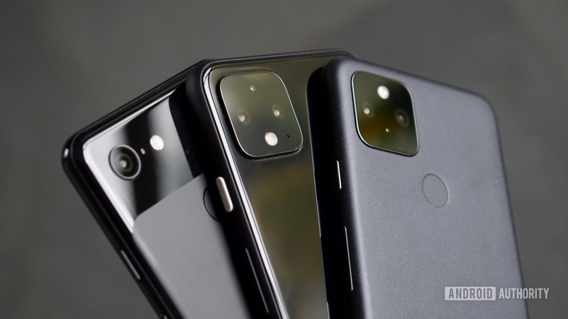 Google Pixel 5 Pixel 4 Pixel 3 cameras