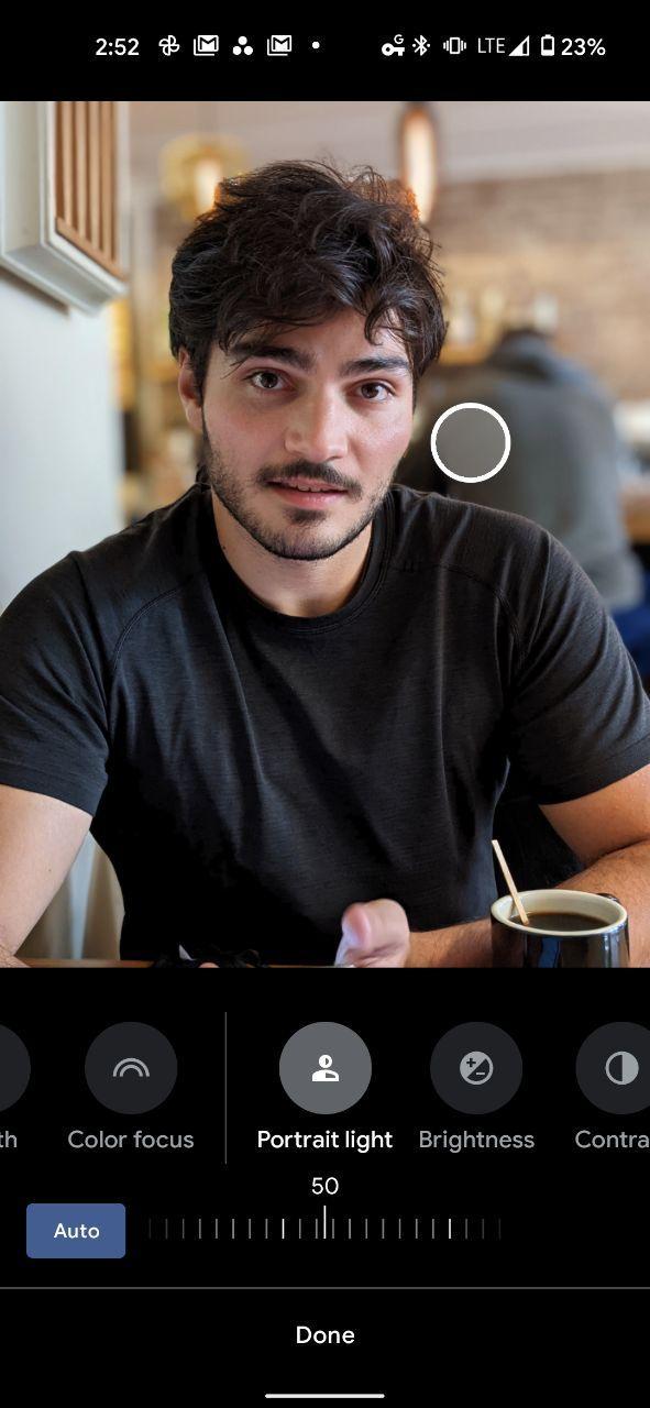 Google Pixel 5 portrait light 1