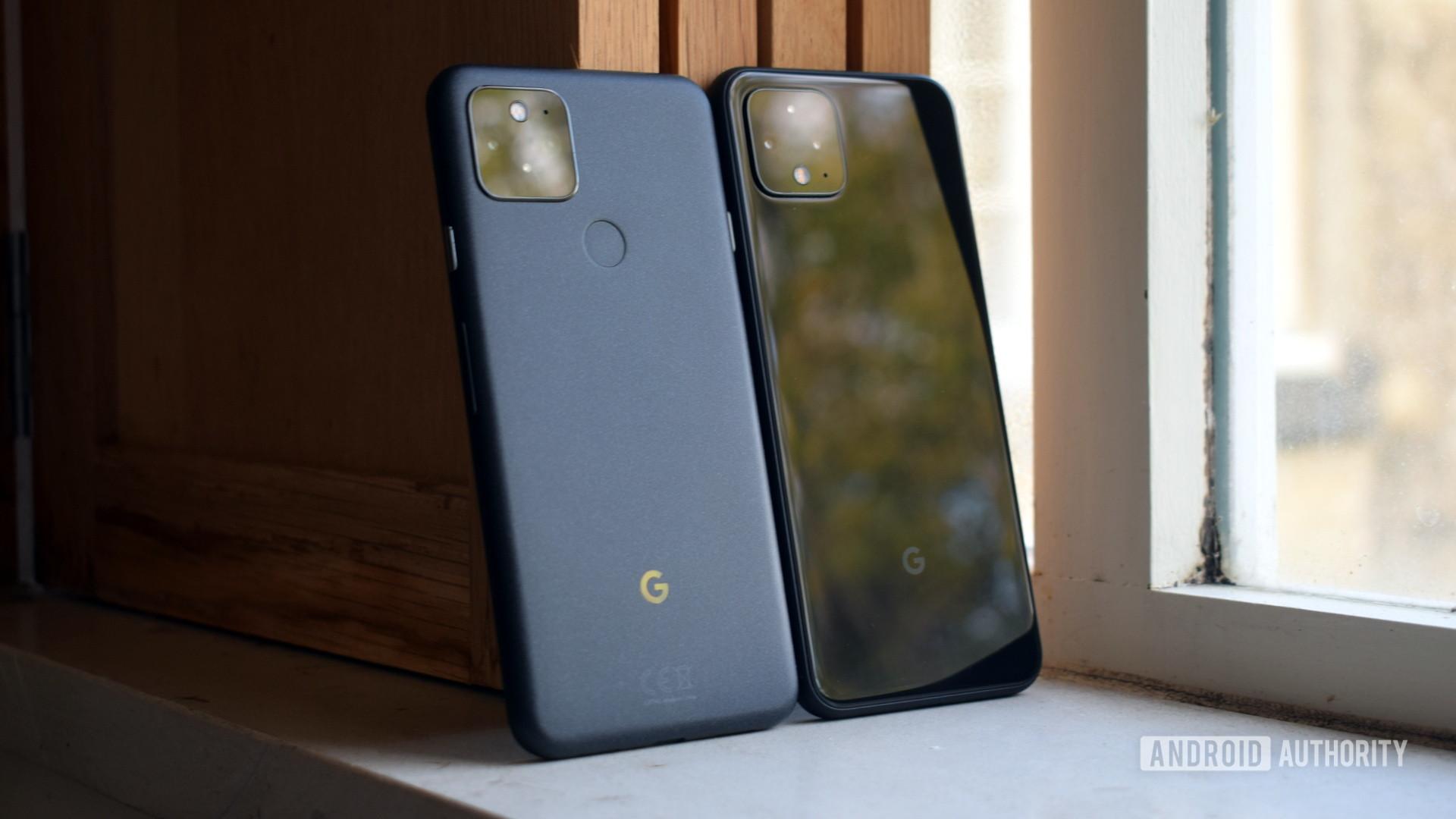 Google Pixel 5 vs Google Pixel 4 backs 2