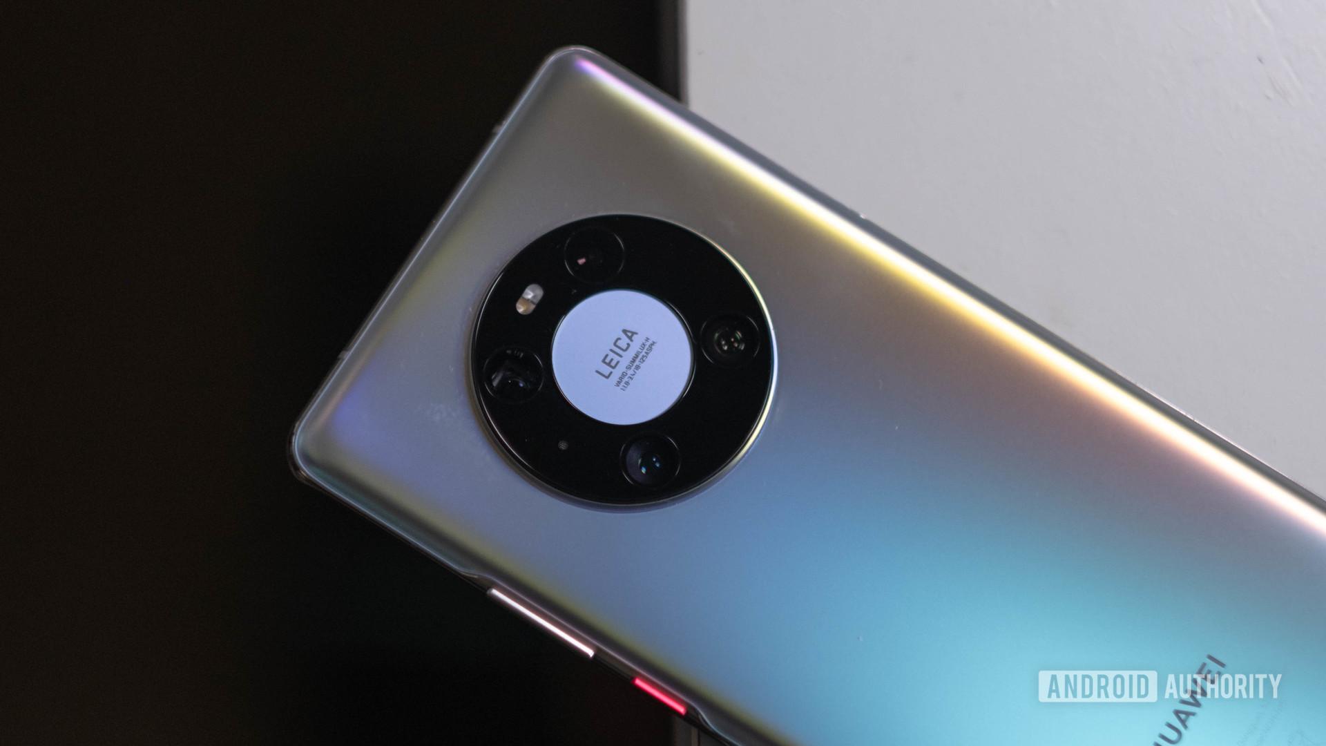 Huawei Mate 40 Pro angled shot of the camera bump