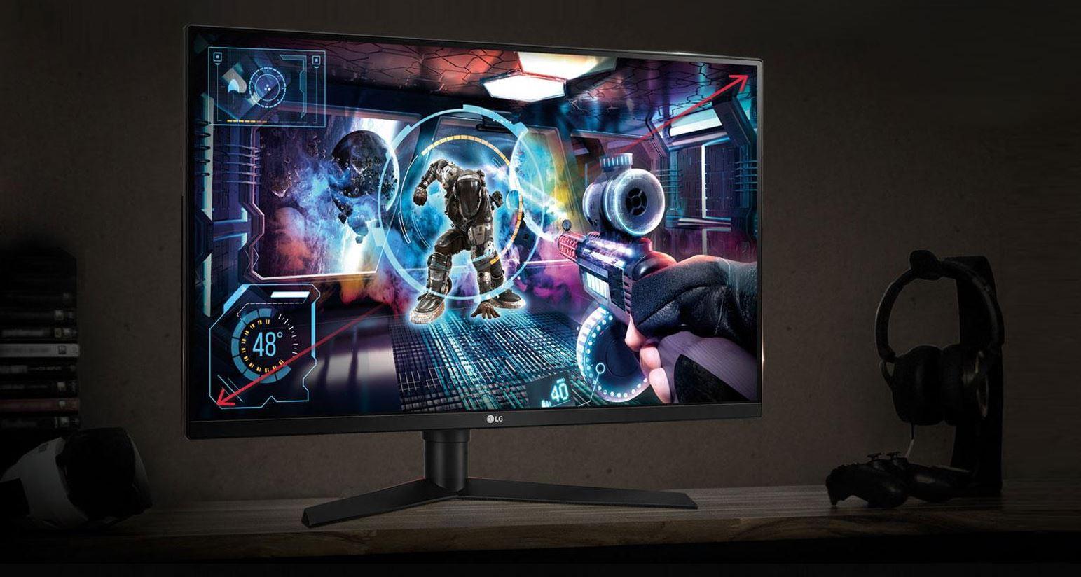 LG 31 Inch G Sync LCD Gaming Monitor on Desk
