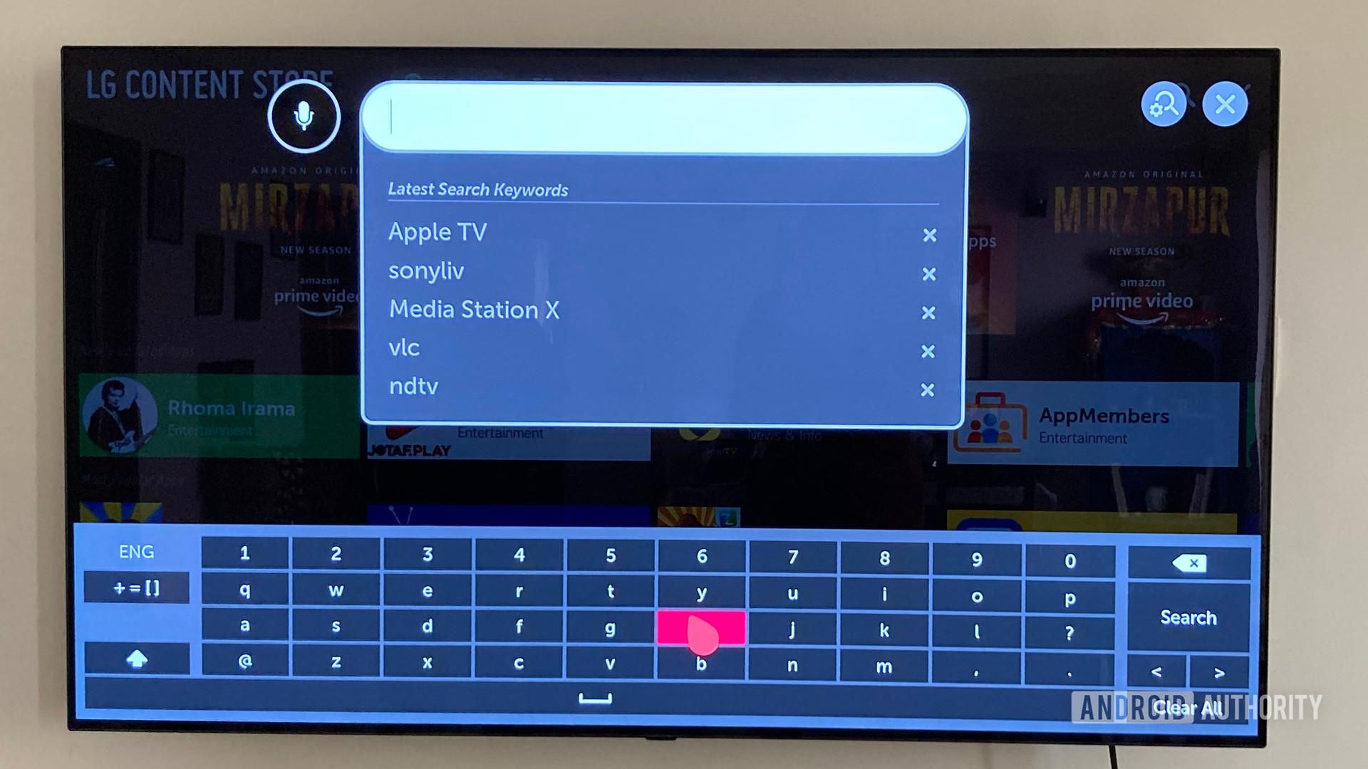 LG TV Web OS Navigation