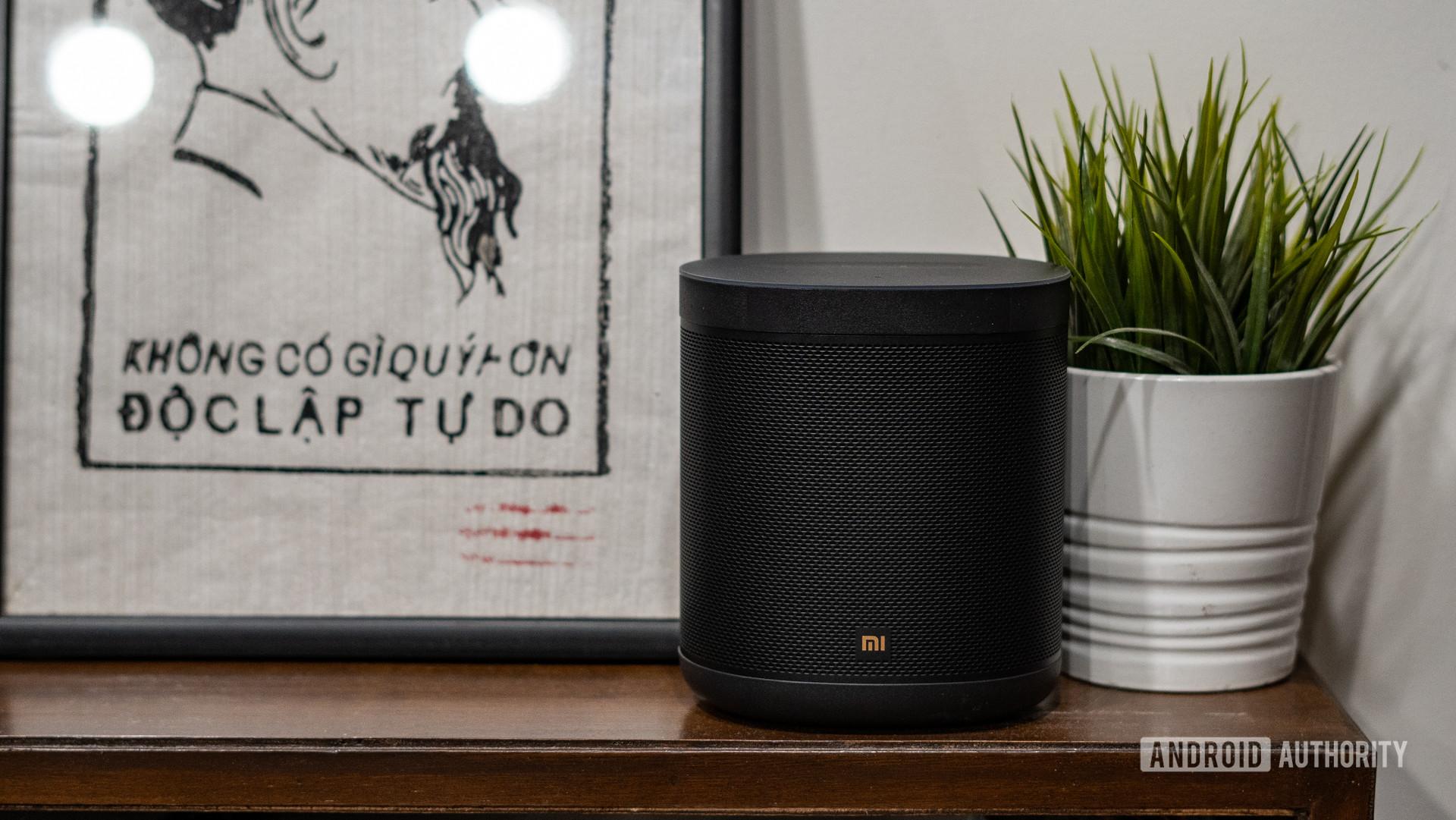 Mi Smart Speaker front on a desk