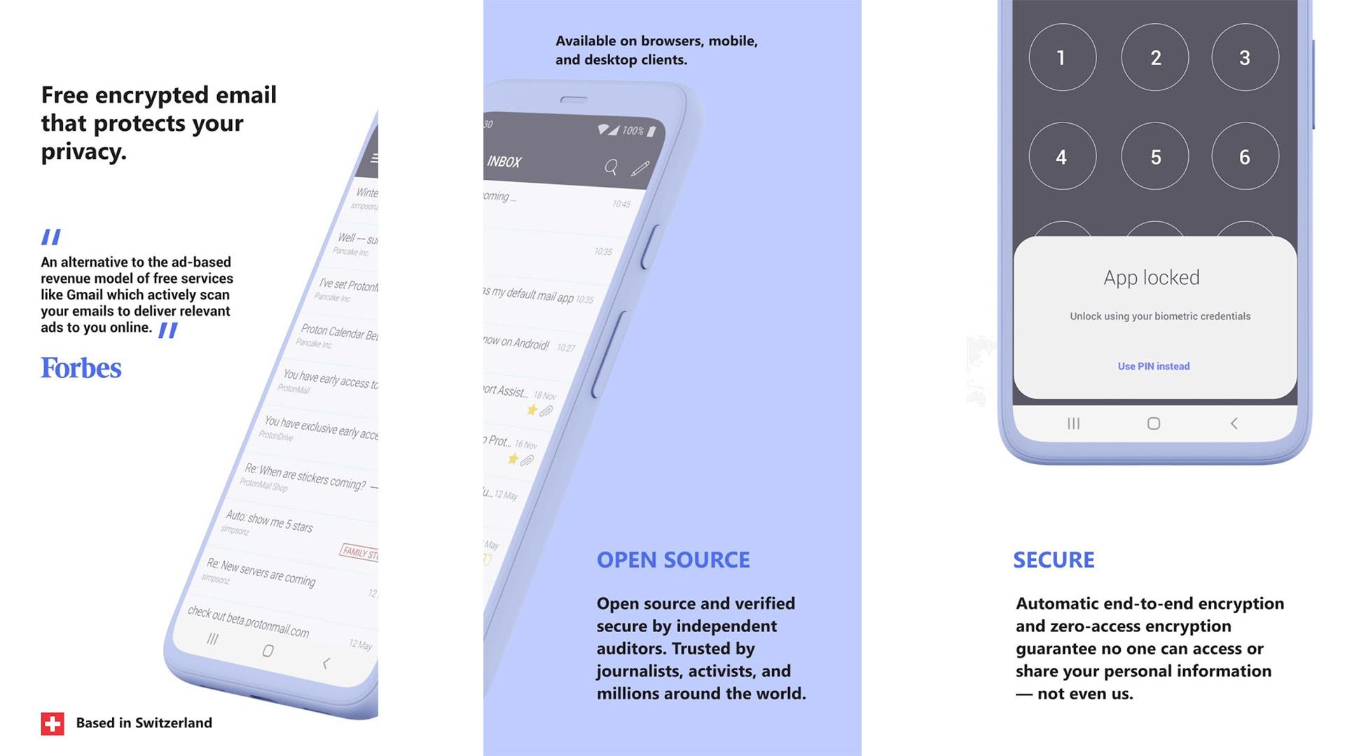 ProtonMail screenshot 2021