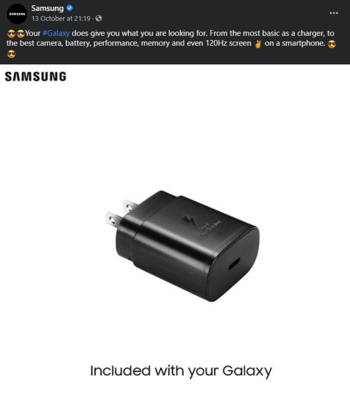 Samsung Caribbean charger facebook
