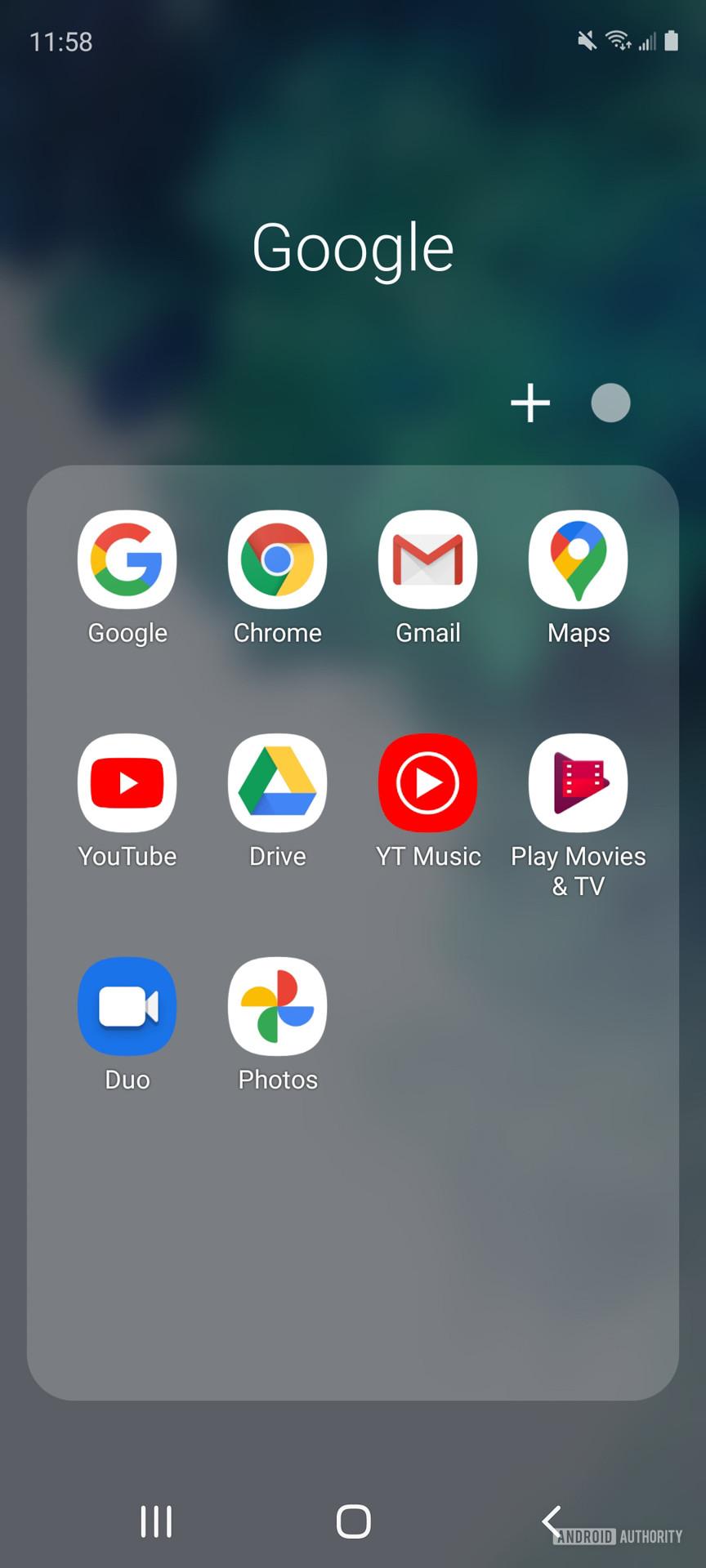 Samsung Galaxy S20 FE folders