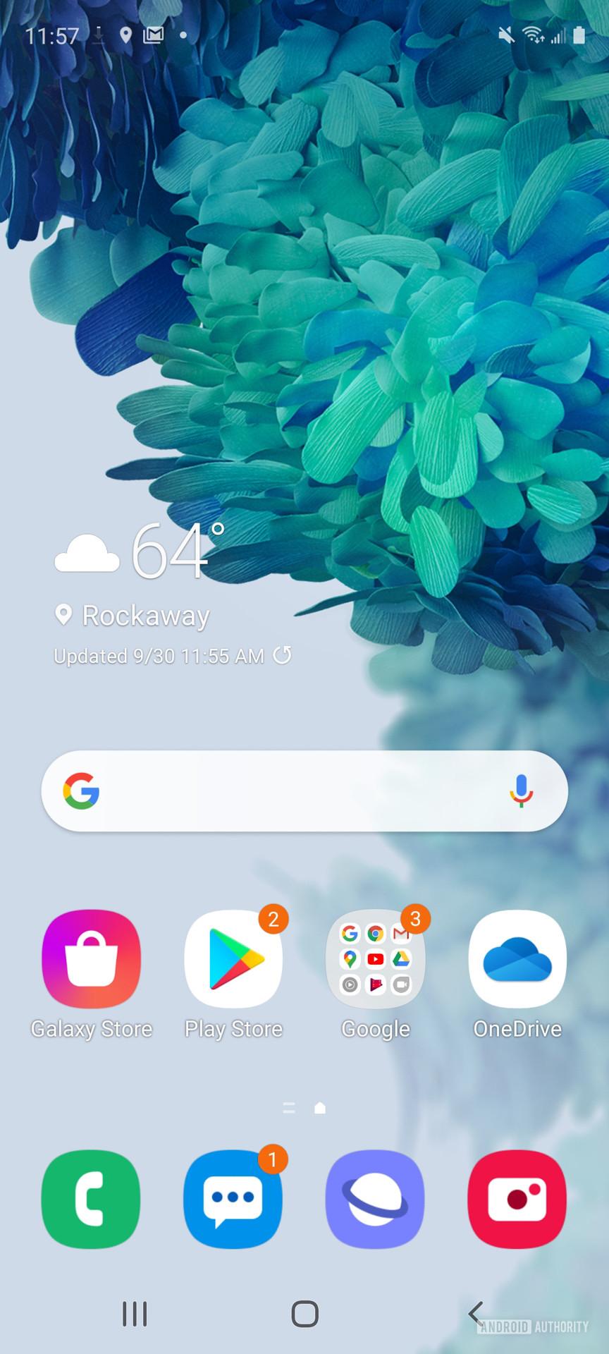 Samsung Galaxy S20 FE home screen